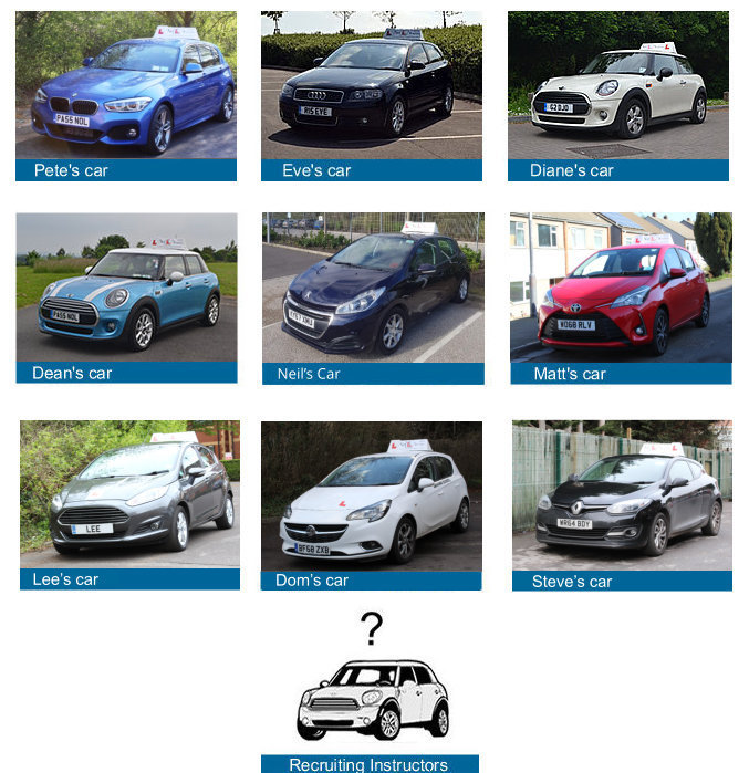 Driving instructor cars