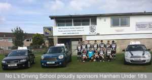 No Ls sponsor Hanham Under 18's