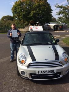 Alan passed with just 1 fault