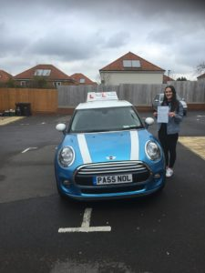 Elsie Jackson Passed First Time With No L's of Bristol