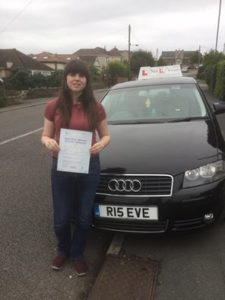 Emily Townsend passed with 2 faults with Eve from Bristol Driving Lessons